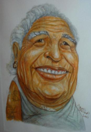 Diego Armando Maradona de viejo