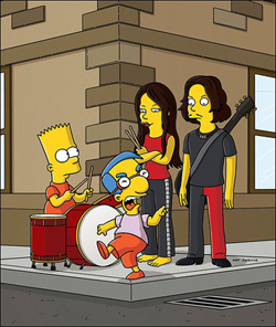 White Stripes con Los Simpsons