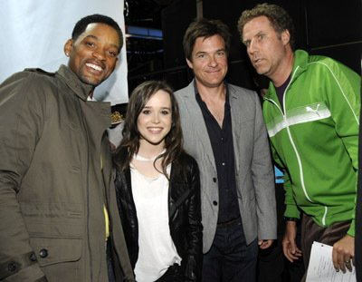 Will Smith, Ellen Page, Jason Bateman y Will Ferrell