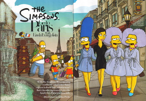 The Simpsons Go To Paris With Linda Evangelista